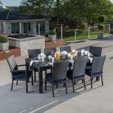 outdoor dining sets evansville 9 piece outdoor dining set with cushion ZFPIJEN