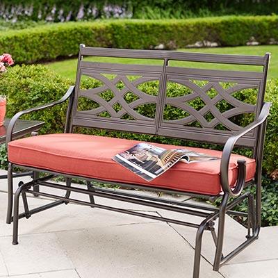 outdoor furniture cushions bench u0026 glider cushions XGBHBPP