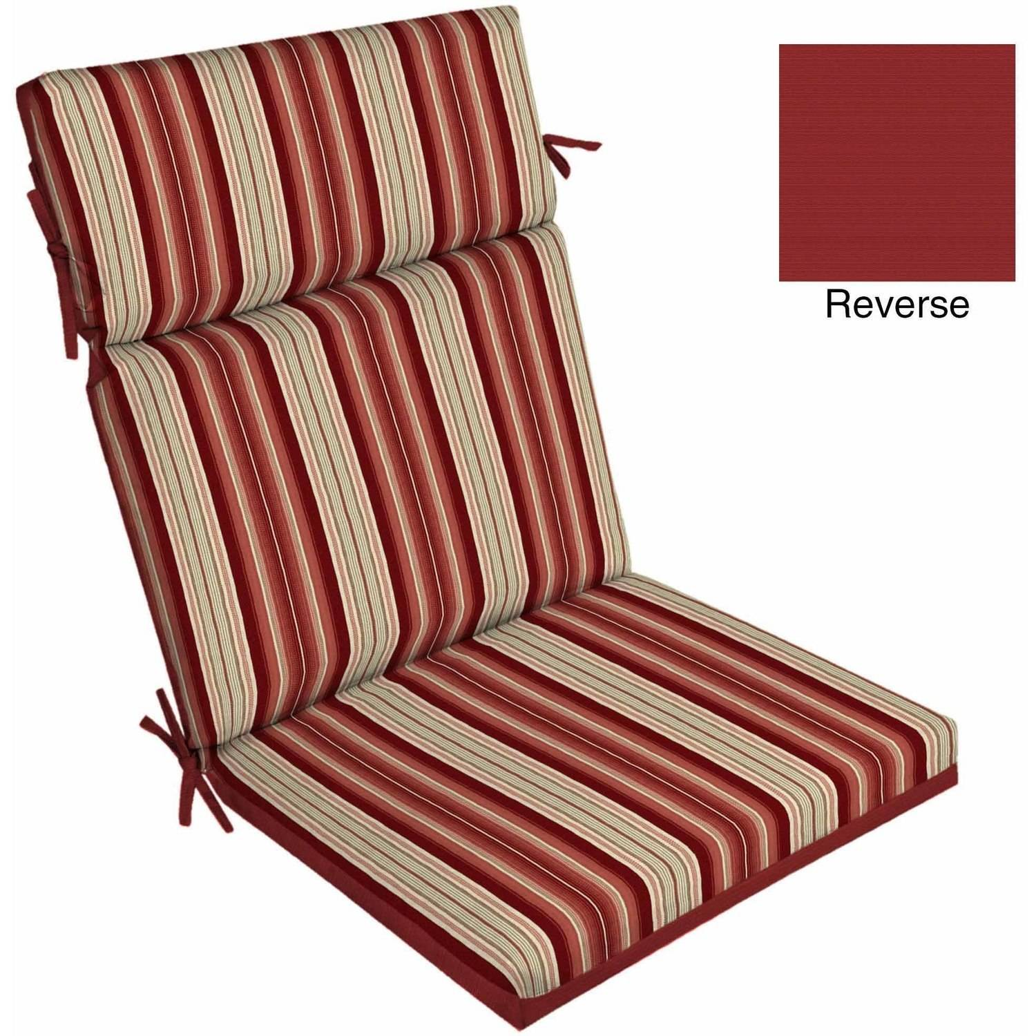 outdoor furniture cushions better homes and gardens outdoor patio reversible dining chair cushion ZSUQWCU