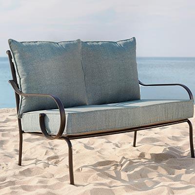 outdoor furniture cushions sofa u0026 loveseat cushions WGGQPKH