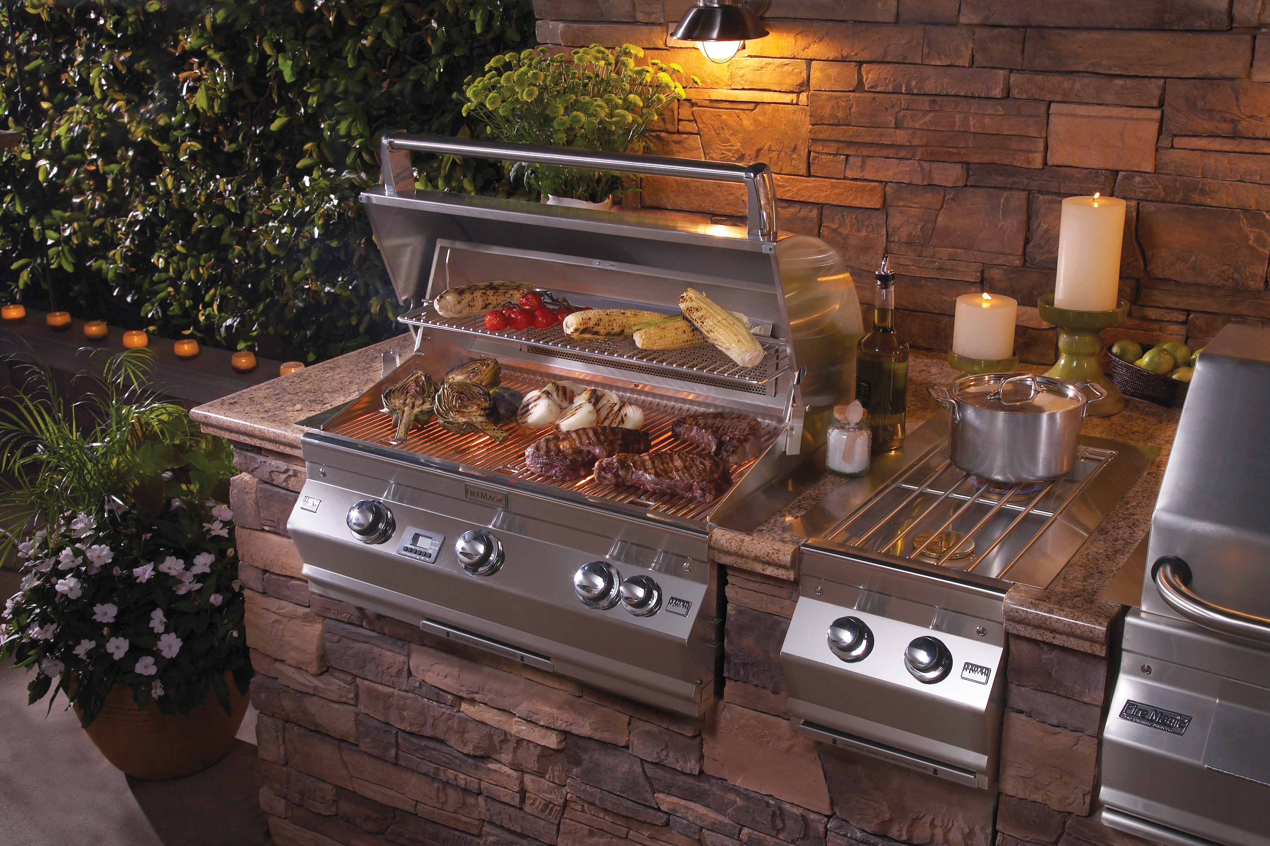 outdoor grill firemagic aurora a660 with double side burner OBUPNHG