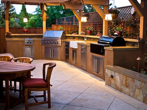 outdoor kitchen design ideas u0026 pictures | hgtv YLJRLED