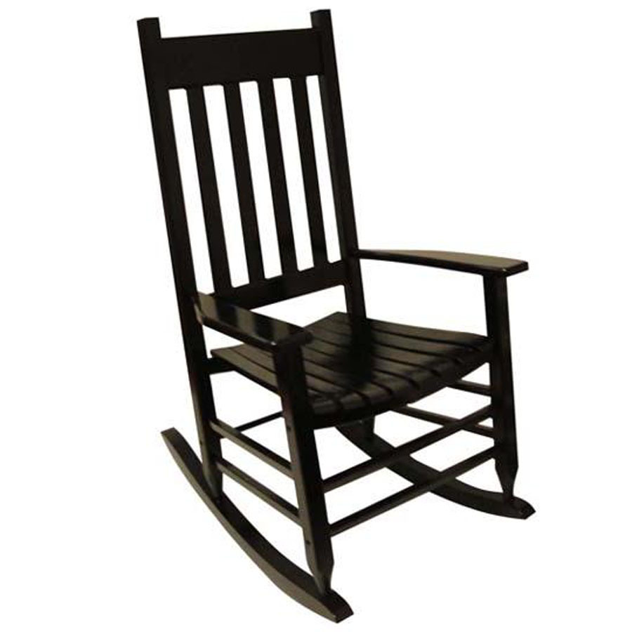 outdoor rocking chairs garden treasures black patio rocking chair ZSBJWOL
