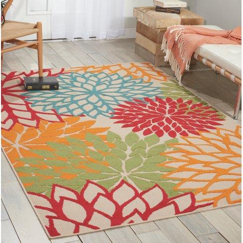 outdoor rugs nathalie red/blue/green indoor/outdoor area rug SEMLIJR