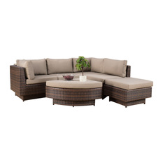 outdoor sofa gdfstudio - brenan outdoor 6-piece sofa sectional set - outdoor sofas ZXDOOQV