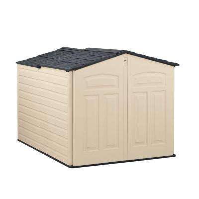 outdoor storage 6 ft. x 4 ft. slide-lid shed WXQMHKA