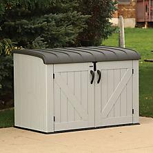 outdoor storage best seller lifetime horizontal storage box, gray LKKSPYQ