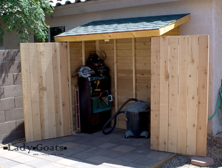 outdoor storage i want to make this! free easy plans anyone can use to build their own · HIAERFH