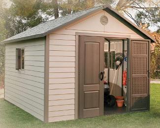 outdoor storage sheds lifetime 11\u0027 x 31\u0027 outdoor storage shed u0026 free skylights GLYYLYT