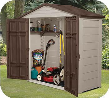 outdoor storage sheds suncast 8x3 resin plastic storage shed w/ floor KOQAYEF