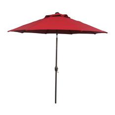 outdoor umbrella abba patio - abba patio market umbrella with auto tilt and crank, dark red, XDTVRUU