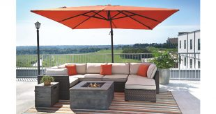 outdoor umbrella coral oakengrove patio umbrella view 3 QBGMYSR