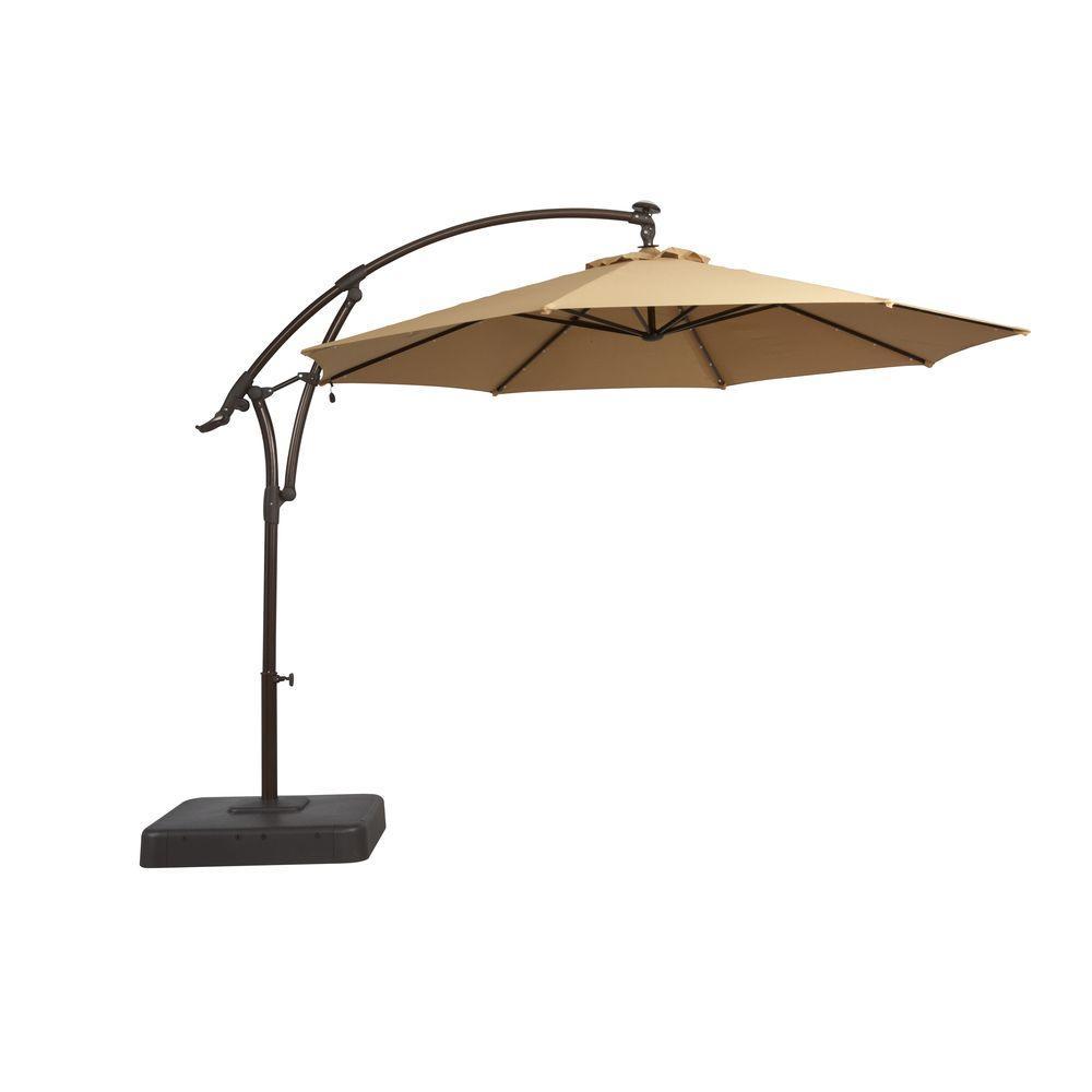 outdoor umbrella solar offset patio umbrella in cafe-yjaf052-cafe - the home depot GCLIBAJ