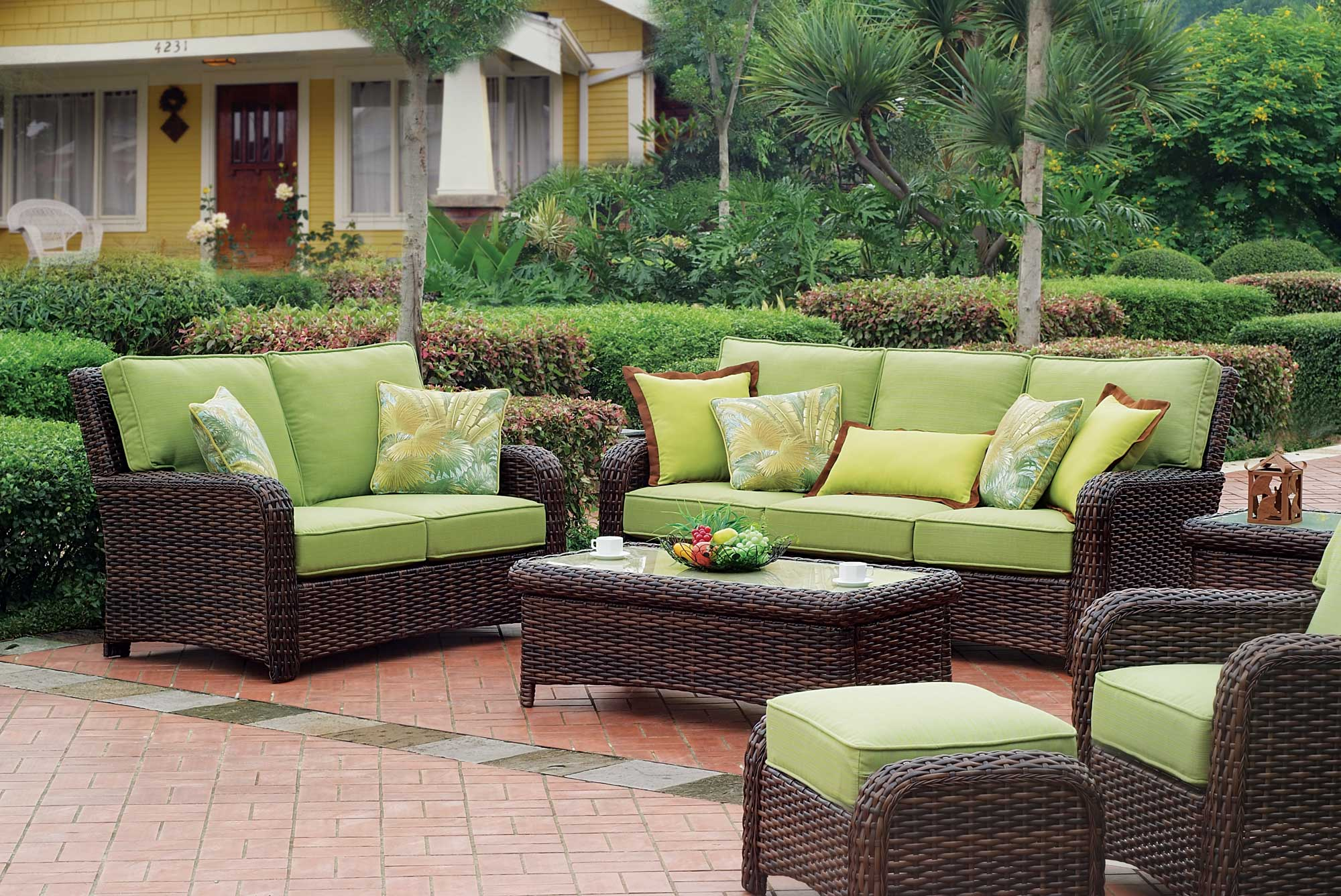 outdoor wicker furniture outdoor living: tips for keeping your rattan furniture looking new - the  fashionable housewife SBBIXRU