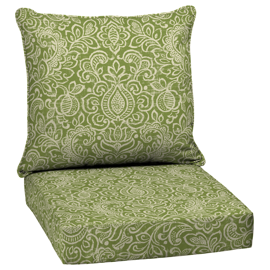 patio chair cushions display product reviews for green stencil glenlee damask deep seat patio  chair cushion for deep seat LHYVMNC