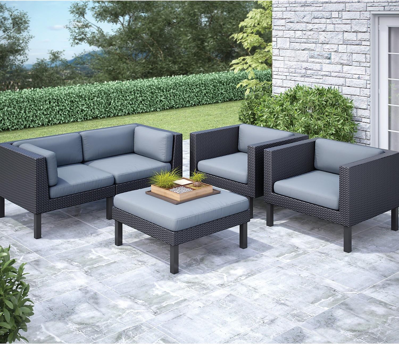 patio conversation sets oakland piece patio conversation set - black the brick RGVDLPS