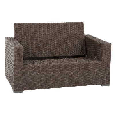 patio couch heatherstone wicker patio loveseat - frame only - threshold™ LCYBUBK