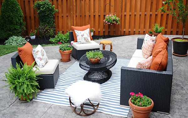 patio decorating ideas: a modern chic patio refresh OVSFOOG