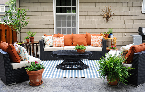 patio decorating ideas: a modern chic patio refresh XIBJCCC