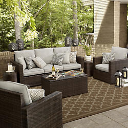 patio furniture sets casual seating sets ZRQPWYJ
