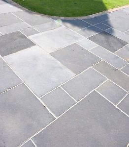 patio slabs 600x600mm limestone garden patio paving slabs midnight sky (7.44m² pack) |  ebay GIVVWHP