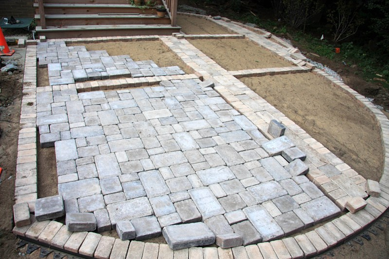 paver patio installation QVAVXMB