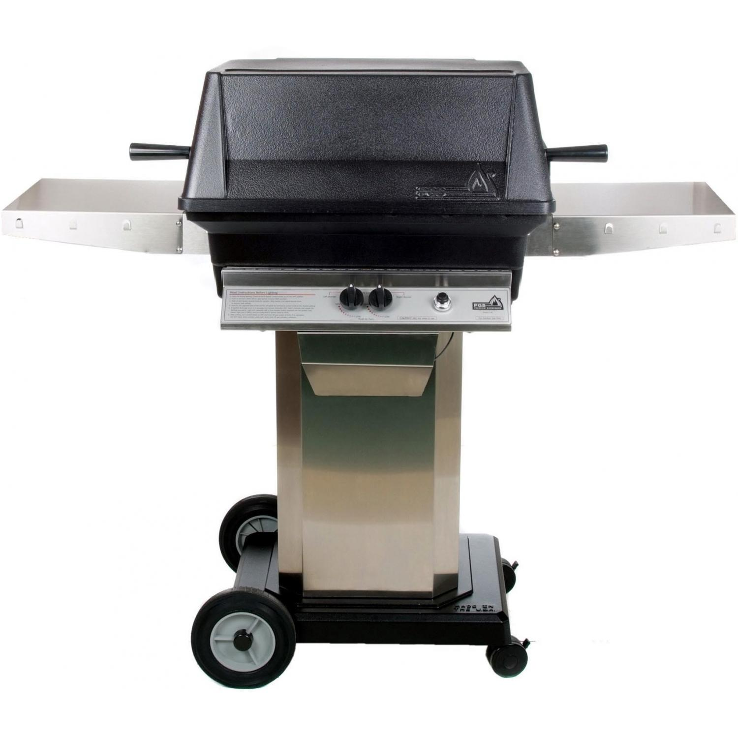 pgs gas grills a40 cast aluminum gas grill on stainless steel portable  pedestal base AQHNWIZ