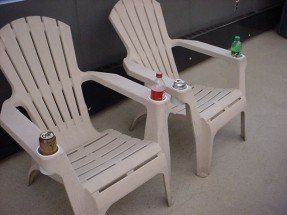 plastic adirondack chairs picture of add cup holders to your resin adirondack chair SFABFLJ