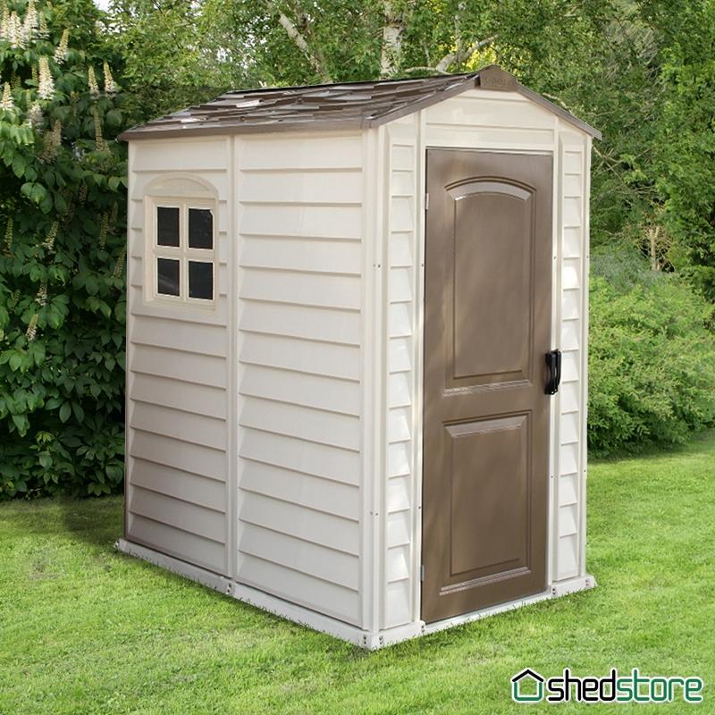 plastic sheds 4u0027 x 5u00275 (1.19x1.80m) duramax woodside plastic shed ... OEGKKRJ