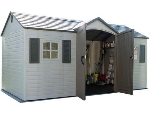 plastic sheds lifetime 15x8 plastic garden storage shed w/ floor PCXOAMR