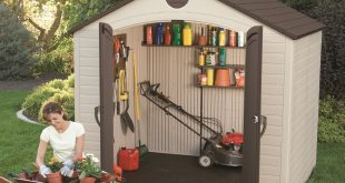 plastic sheds lifetime 8 feet by 5 feet storage shed BQYJIVH