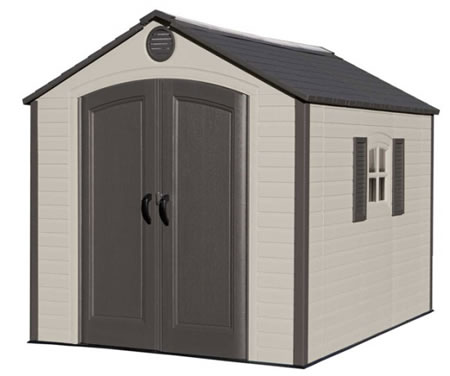 plastic sheds lifetime sheds 8x10 plastic shed kit - ridge skylight AYEBGEC