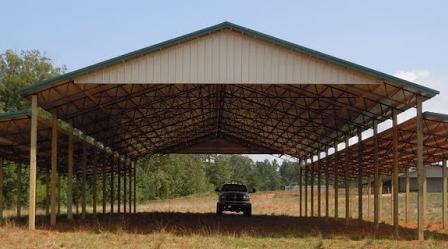 pole barn ... open barn with gable end KLTDGZE