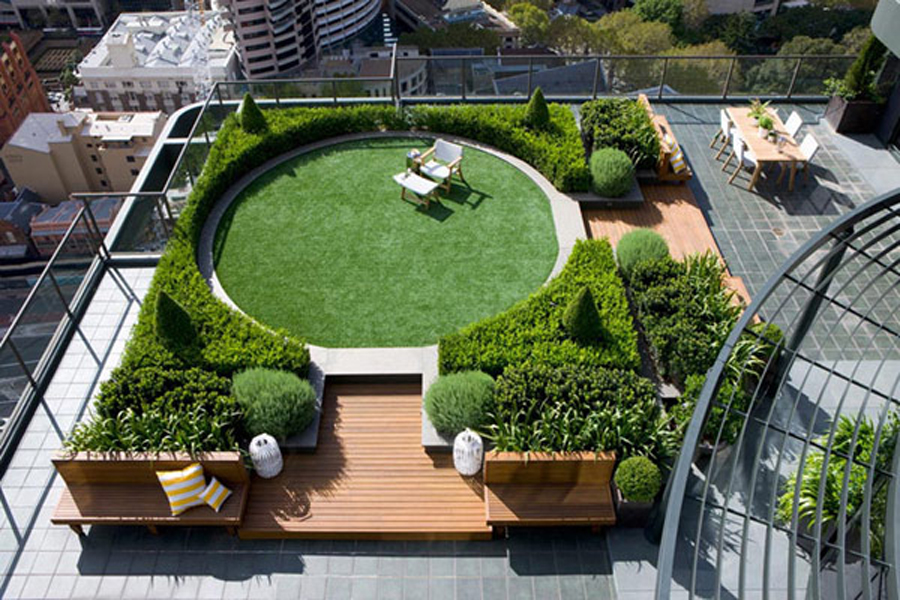 roof garden lifegrow™ rooftop garden in india by life green systems ... NGTVORL