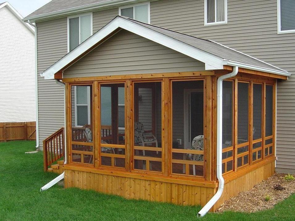 screened in porch ideas | cedar screen porch, ames (exterior view 2) - LYQXOOU