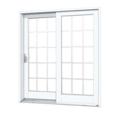sliding patio doors 72 in. x 80 in. composite left-hand smooth interior with 15- LDBIPEI