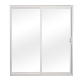 sliding patio doors reliabilt 300 series 58.75-in clear glass white vinyl sliding patio door HJGATTT
