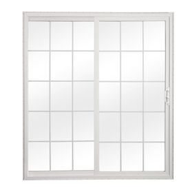 sliding patio doors reliabilt 300 series 70.75-in grilles between the glass white vinyl sliding  patio door DYKETBM