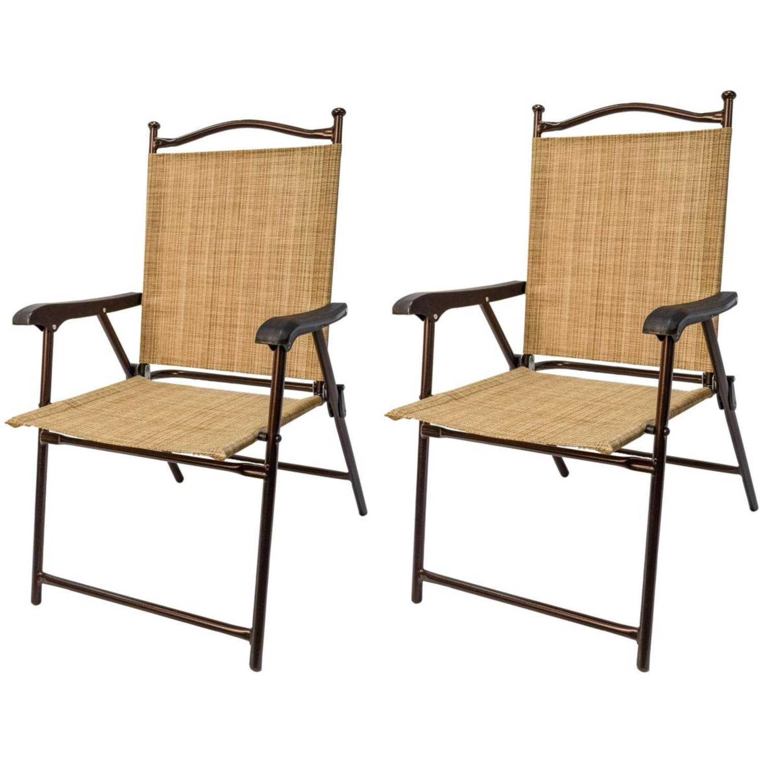 sling black outdoor chairs, bamboo, set of 2 image 1 of 5 OPOSMYF