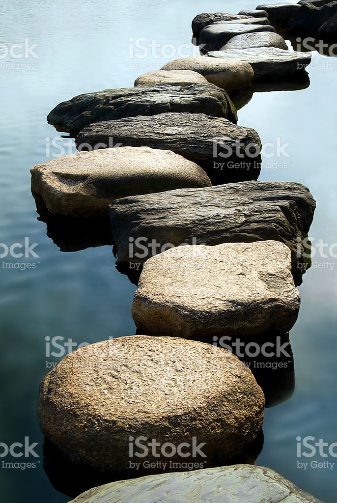stepping stones stock photo JTBOLUY