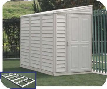 storage sheds sidemate 4x8 vinyl shed w/ floor kit MACDCTU