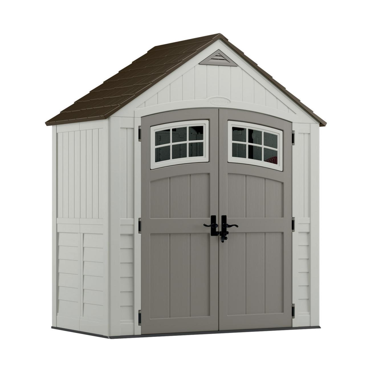 storage sheds suncast 7ft x 4ft cascade resin storage shed (bms7400) - ace hardware FNDMQRY