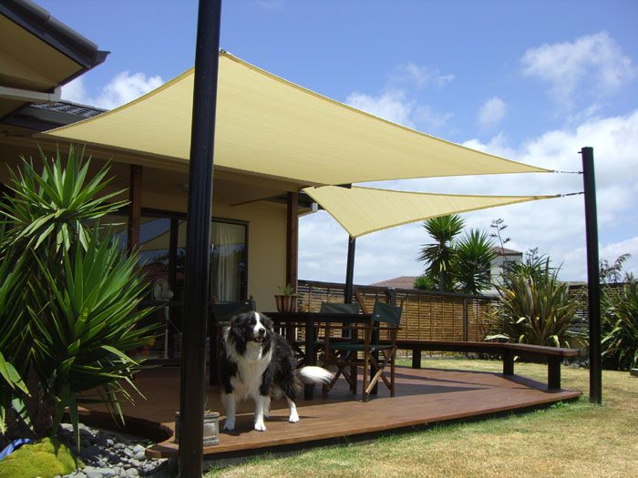 sun shade diy wishlist: a patio shade sail PROAMGY