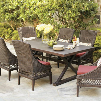 wicker outdoor furniture wicker patio dining furniture ZNUBIEE