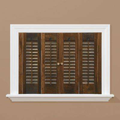window shutters traditional real wood walnut interior shutter (price varies by size) HZWCYGE