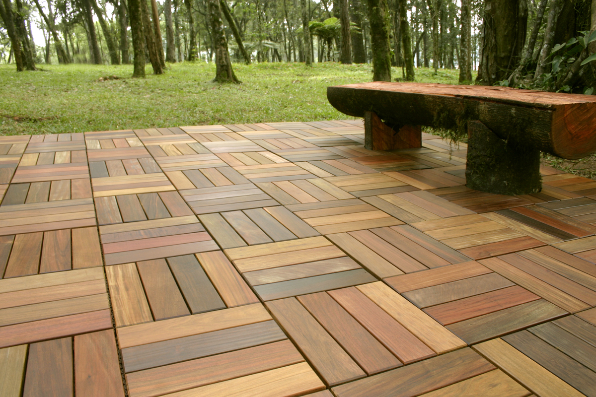 wood deck tiles RUNXSJV