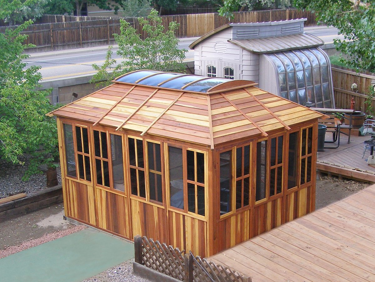wood gazebo kits handcrafted from redwood KNAVQUX