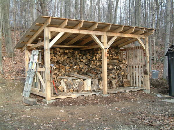 wood shed ... blocks. itu0027s 8 x 16 and holds about six cords head high. iu0027m building  another YHOERMY