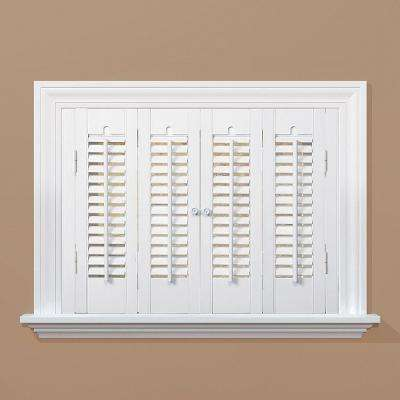 wood shutters traditional real wood snow interior shutter (price varies by size) LDXPXZW
