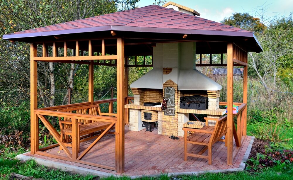 wooden gazebo 32 wooden gazebos that provide rich design and comfortable spaces CRBXFHK
